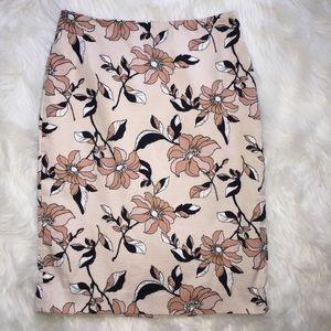 Ann Taylor Tan Floral Skirt